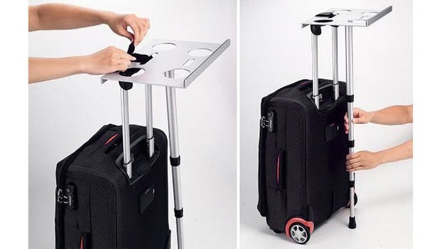 Suitcase Laptop Support Gives You A Standing Desk Wherever