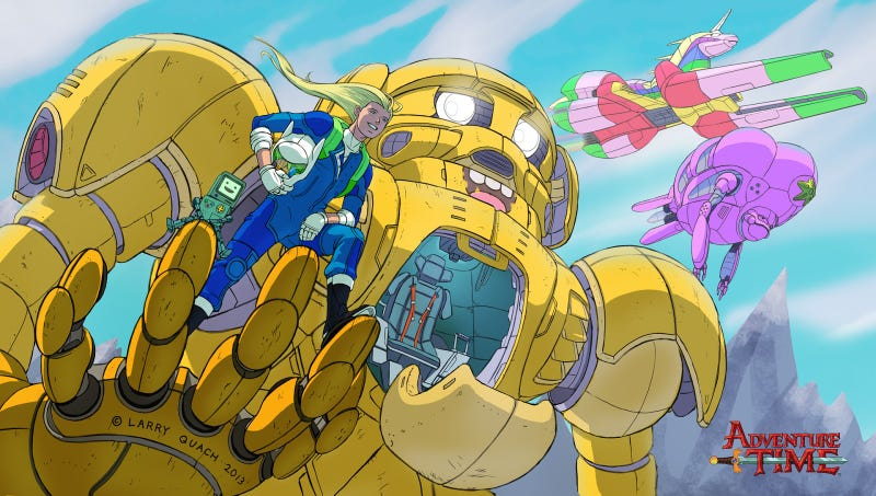 Illustration for article titled An Adventure Time x Pacific Rim Crossover Might Look Like This
