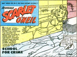 Illustration for article titled Invisible Scarlet O'Neil, the First Super-Powered Comic Strip Heroine, Inspires New Stage Show in Chicago