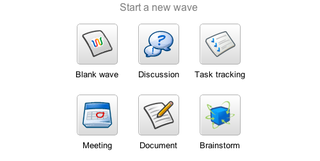 Illustration for article titled Google Wave's Quick, New Wave Templates Guide Your Wave Use
