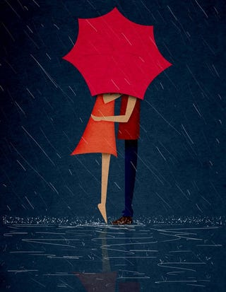 Illustration for article titled A more romantic version of a rainy day.