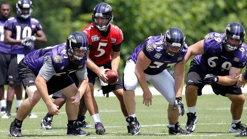 Illustration for article titled Ravens Offense Suffers Another Huge Blow As Joe Flacco Lines Up Under Center