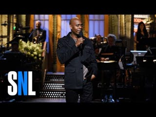 Dave Chappelle hosting Saturday Night Live on Nov. 12, 2016NBC Screenshot