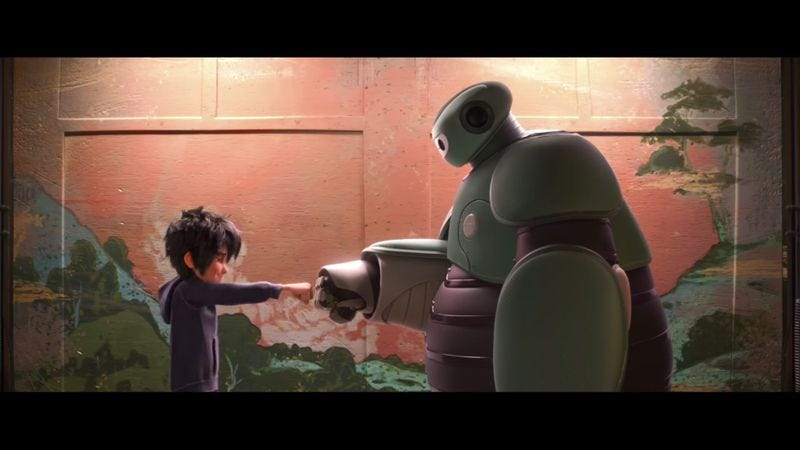 Illustration for article titled Read This: EW's oral history of the Baymax fist bump from Big Hero 6