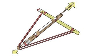 Illustration for article titled Construct a Crossbow out of Office Supplies