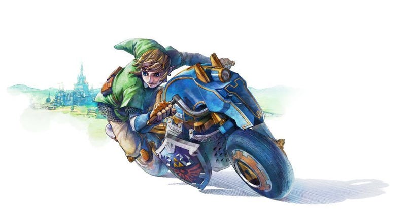 Illustration for article titled Oh My Gosh, Nintendo Gave Link A Motorcycle