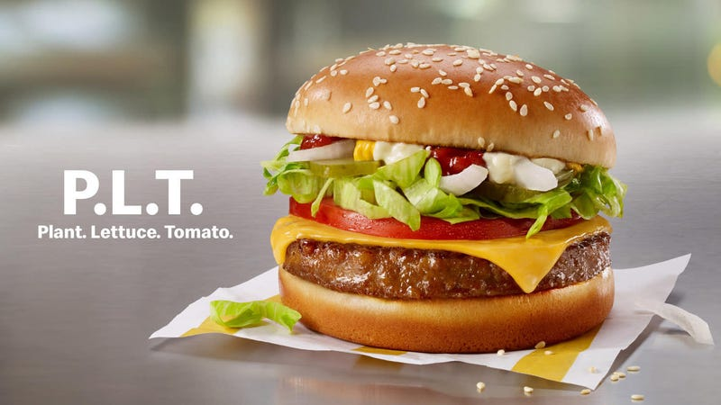 Illustration for article titled The newest entrant into the fake meat sweepstakes is... Mickey D's