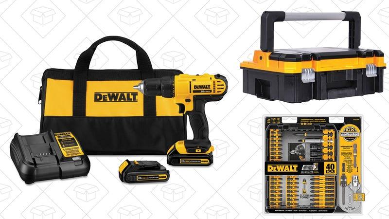 DEWALT 20V Drill + Bit Kit or Tool Box, $89