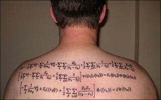 Illustration for article titled Does this Physics Tattoo Make this Man the Biggest Nerd on Earth or Hottest Geek Alive?
