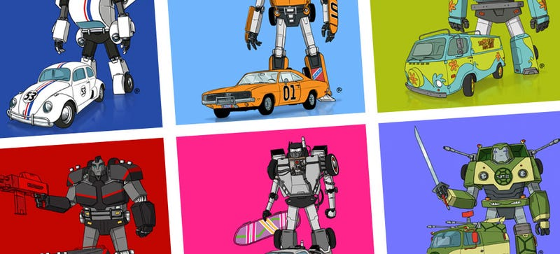 Illustration for article titled These Transforming Famous Cars Are Such A Great Idea