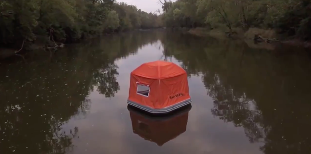 This floating tent offers you a cool new way to die while camping