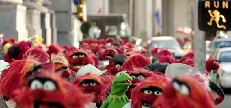 Illustration for article titled Spot-on Muppets ad replaces everyone in New York with Animal