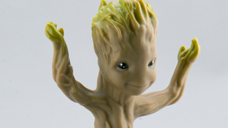 Illustration for article titled A better look at the first Dancing Baby Groot Toy