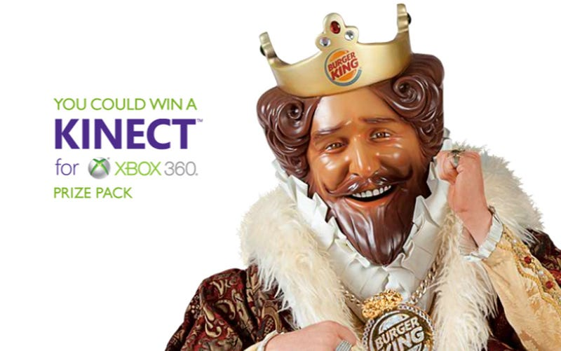 Illustration for article titled Burger King Is Giving Away A Kinect Bundle Every 15 Minutes