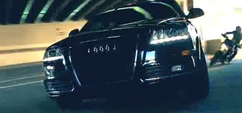 """Illustration for article titled Audi """"Chase"""" Super Bowl Commercial Hits Internet Early"""