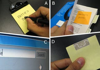 """Illustration for article titled MIT Develops """"Quickies"""": Post-it Notes For The 21st Century"""