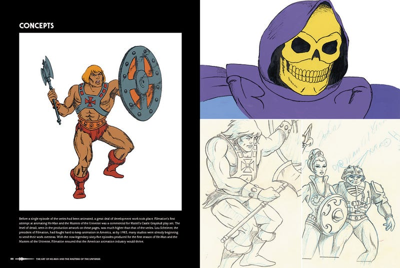 Illustration for article titled Check Out Some Of The Earliest Concept Art For He-Man And Skeletor!