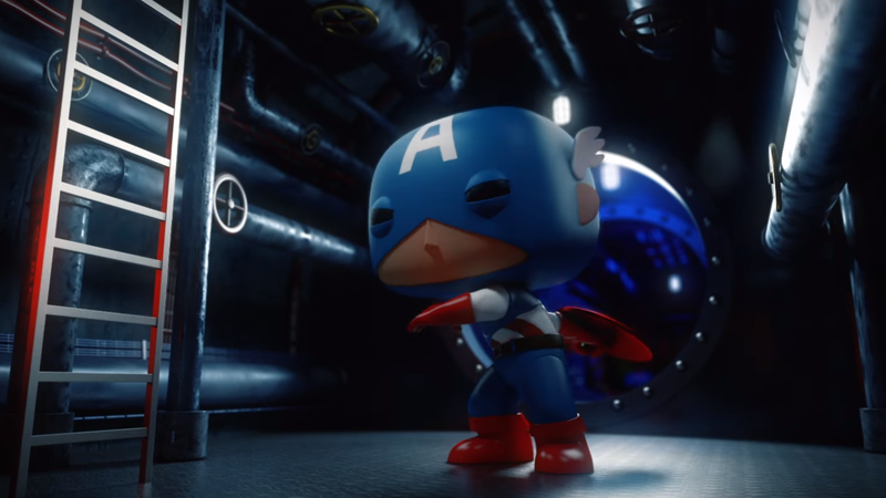 Illustration for article titled This Funko Pop Captain America Short is Actually Amazing