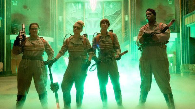 Illustration for article titled Here's the first official image of the new Ghostbusters