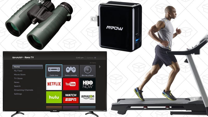 Illustration for article titled Saturday's Best Deals: Hunting Gear, Roku Smart TV, Treadmill, and More
