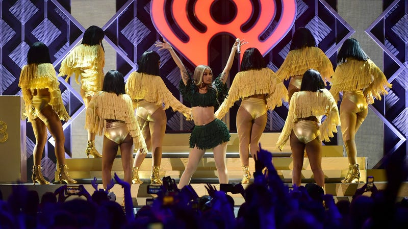 Cardi B performs onstage at Z100's Jingle Ball 2018 on December 7, 2018 in New York City.