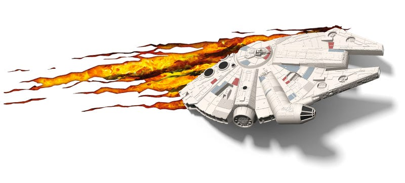 Illustration for article titled This Millennium Falcon Night Light Makes a Kessel Run Right Through Your Wall
