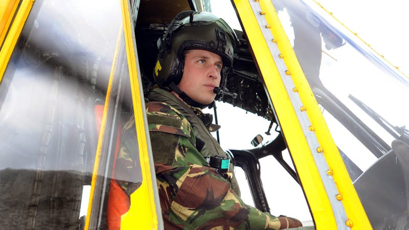 Illustration for article titled Need a Dramatic Helicopter Rescue? Prince William Might Pick You Up
