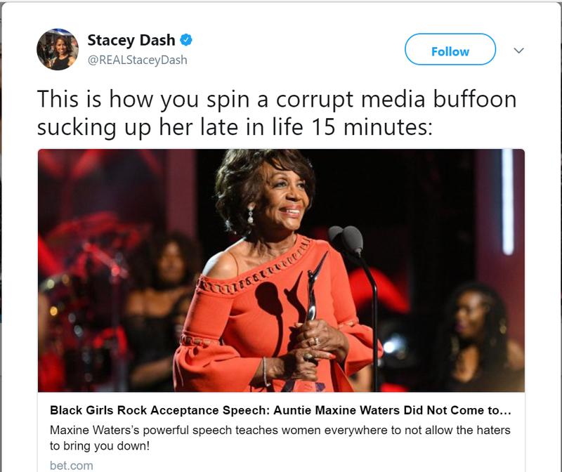 Stacey Dash via Twitter screenshot