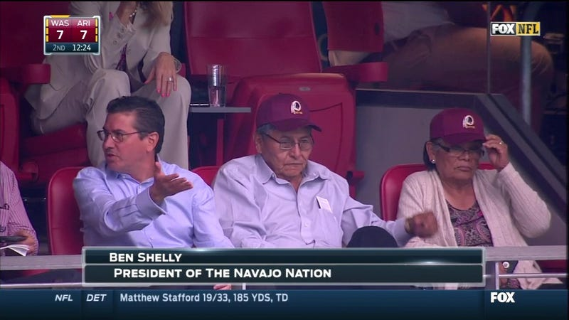 Illustration for article titled Disgraced, Soon-To-Be-Former Navajo Nation President Attends 'Skins Game