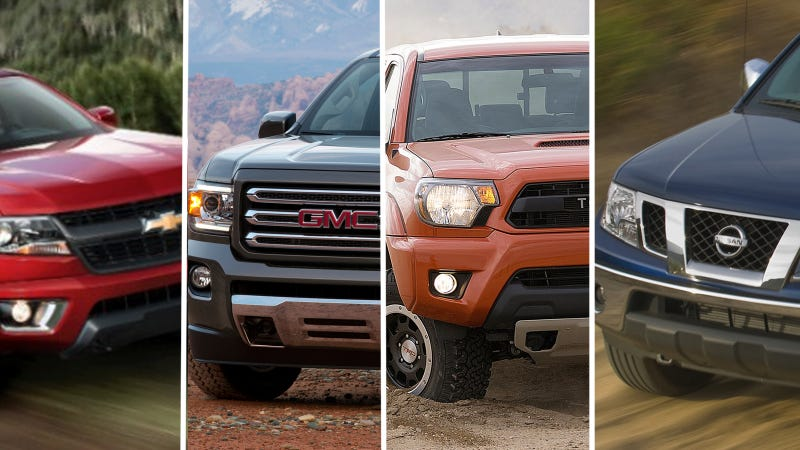 Illustration for article titled 2015 GMC Canyon & Chevy Colorado Prices Compared To Closest Rivals