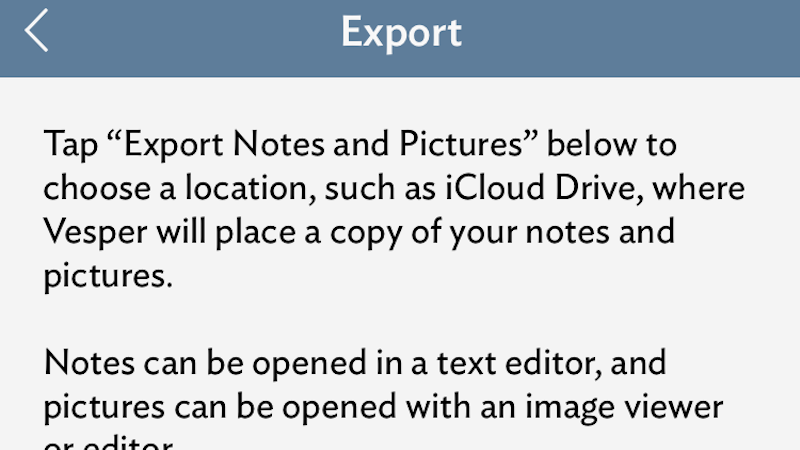Illustration for article titled iPhone Notes App Vesper Is Shutting Down, Here's How to Save Your Data