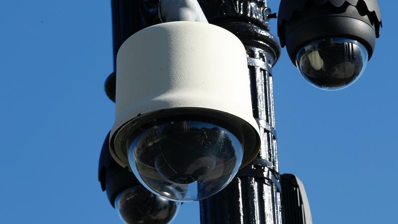 A streetlight surveillance camera. (Photo: AP)