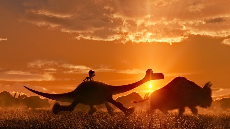 Illustration for article titled Pixar goes both simpler and stranger than usual with The Good Dinosaur