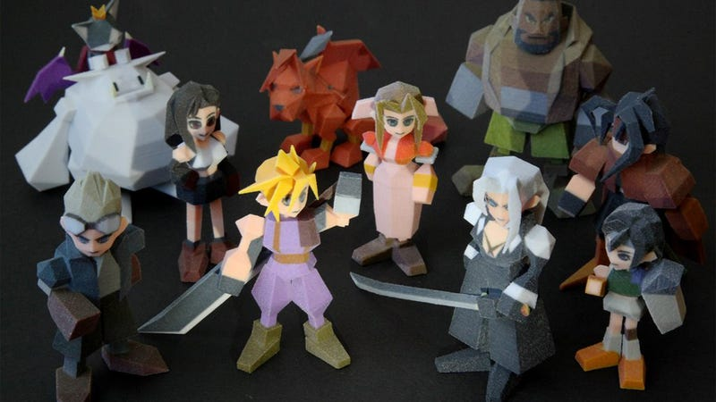 Illustration for article titled 3D-Printed Final Fantasy VII Characters Look Pretty Amazing