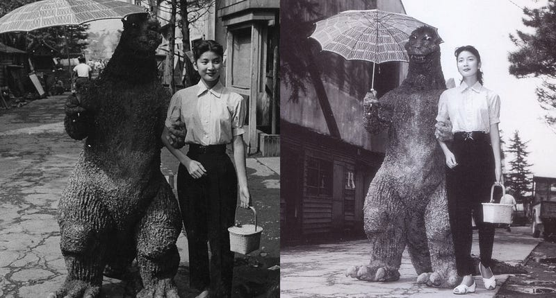 Illustration for article titled This is the greatest photo of Godzilla ever taken