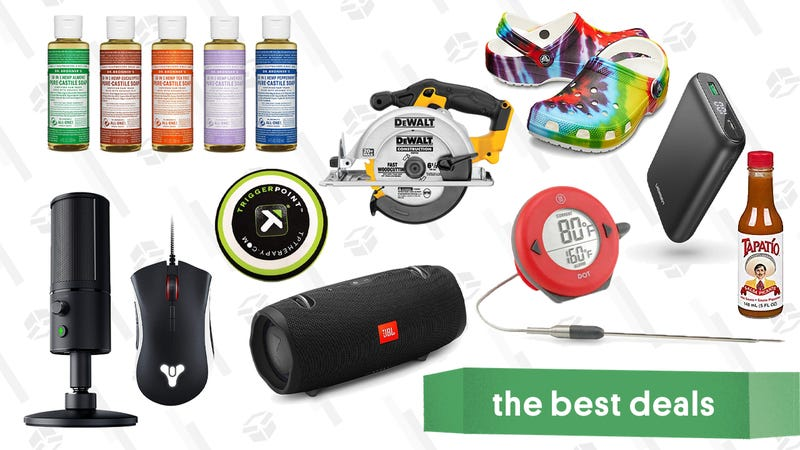 Illustration for article titled Thursday's Best Deals: 30% Off Crocs, TriggerPoint Massage Balls, L.L. Bean Sale, and More