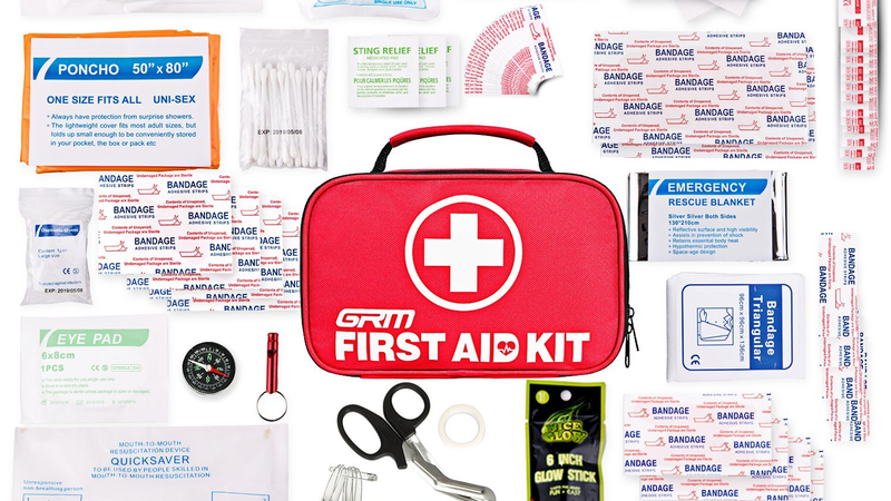 First Aid Kit (130 Pieces) | $16 | Amazon | Use code PMYHZA9L