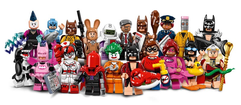 Illustration for article titled The Lego Batman Movie Minifigure Set Is Magnificent