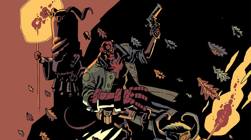 Illustration for article titled A vampire crashes a pagan ritual in this Hellboy Winter Special exclusive