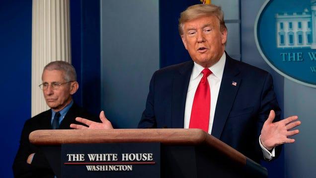 Trump Announces Plan To Retrain Nation's 3 Million Unemployed Americans As Human Ventilators