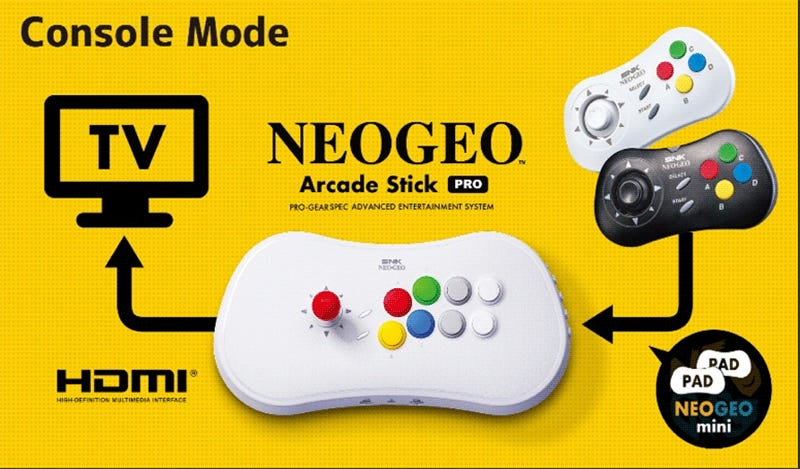 The Neo Geo Arcade Stick Pro Has 20 SNK Games Built-In