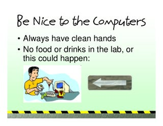 """Illustration for article titled """"They're eating in the computer lab. You need to TALK TO THEM."""""""