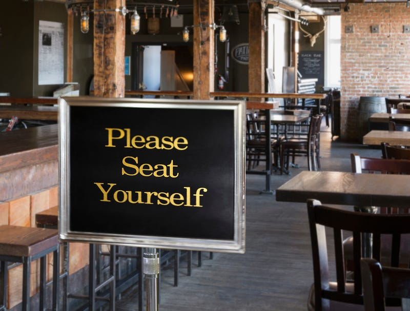 Illustration for article titled Restaurant Hostess Loses Job To 'Please Seat Yourself' Sign