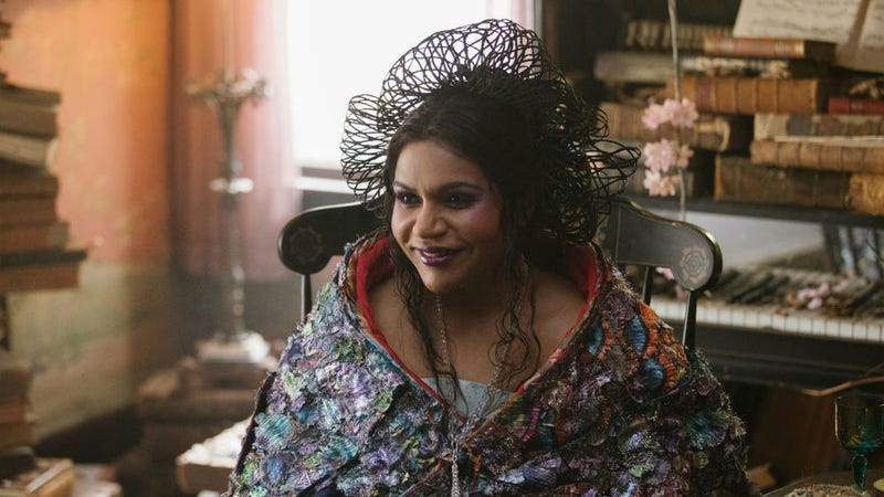 Mindy Kaling as Mrs. Who in A Wrinkle In Time.