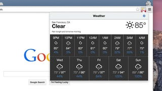 Weather for Chrome Puts Your Local Forecast in a Chrome Toolbar Button