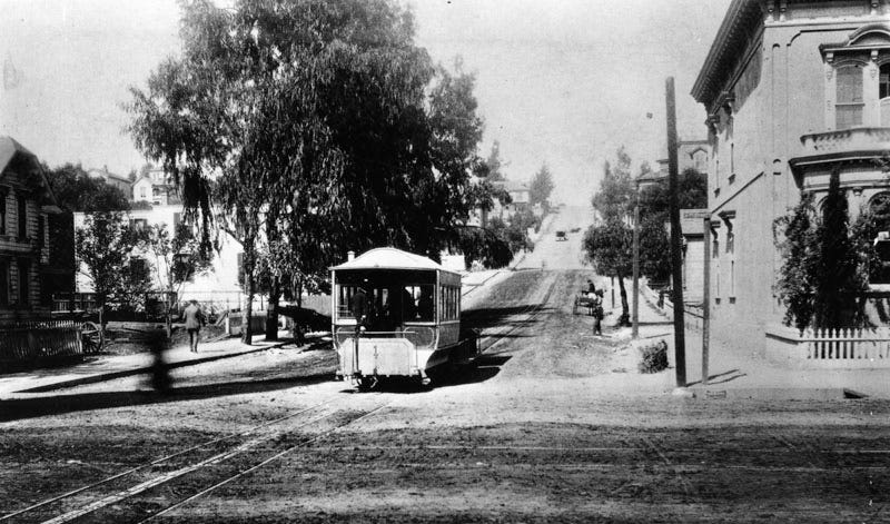 Illustration for article titled L.A. Once Had Cable Cars (Just Like San Francisco's)