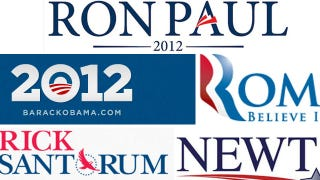 Illustration for article titled Design Experts Weigh In on the 'Trite, Predictable' 2012 Campaign Logos