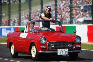Illustration for article titled Help Us ID the Mystery Roadster of Suzuka