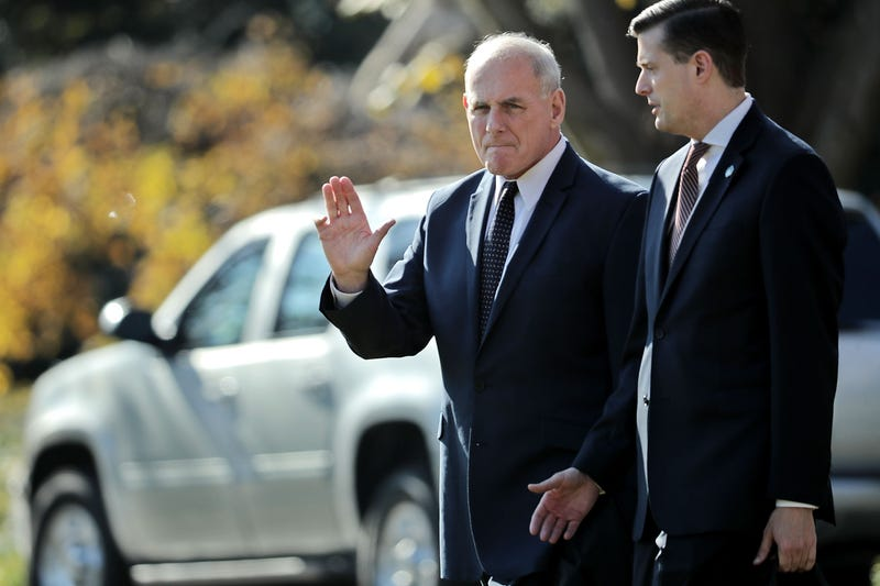 White House chief of staff John Kelly and Staff Secretary Rob Porter leave the White House on Nov. 29, 2017, in Washington, D.C. (Chip Somodevilla/Getty Images)