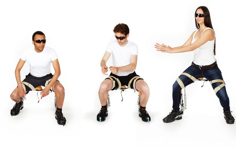 Illustration for article titled This Pair of Bionic Pants Is a Chair That You Wear